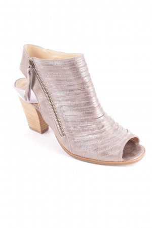 Paul Green High-Heeled Sandals silver-colored-gold-colored color gradient