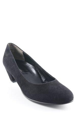 Paul Green Schlüpfschuhe schwarz schlichter Stil