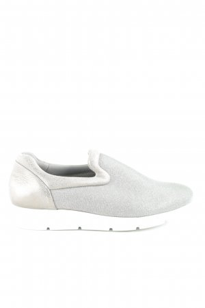 Paul Green Schlüpfsneaker silberfarben-weiß Glitzer-Optik