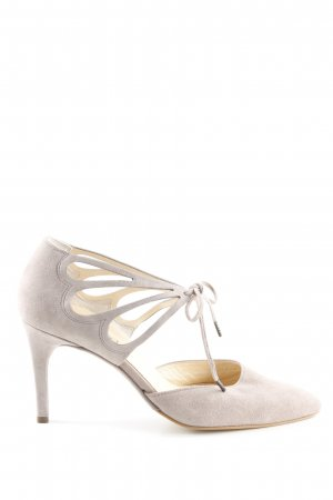 Paul Green Tacones con cordones beige claro elegante