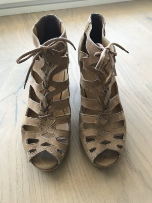 Paul Green Platform High-Heeled Sandal beige