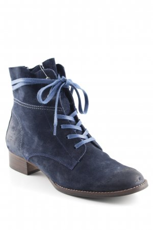 Paul Green Lace-up Booties dark blue street-fashion look