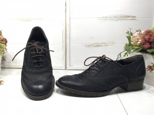 Paul Green Lace Shoes black-brown leather