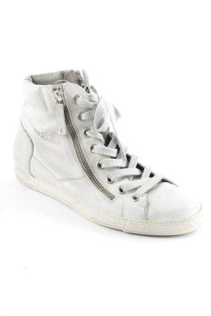 Paul Green Chaussures à lacets gris clair style décontracté