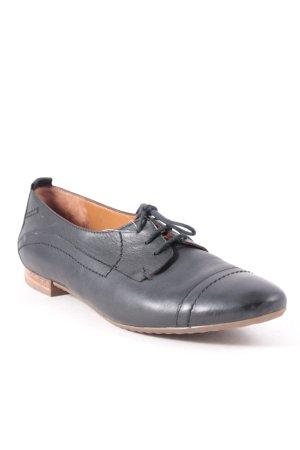 Paul Green Zapatos brogue negro look casual