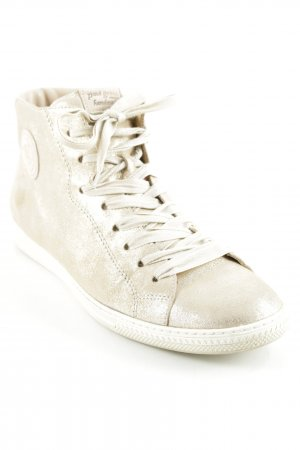 Paul Green Schnürsneaker creme-goldfarben Casual-Look
