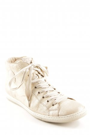 Paul Green Schnürsneaker goldfarben-beige Casual-Look