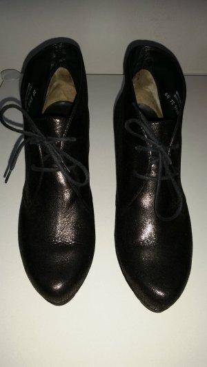 Paul Green Patucos con cordones negro-color plata