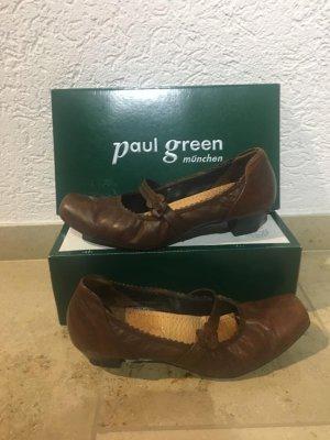Paul Green Tacones de tiras marrón-marrón oscuro Cuero