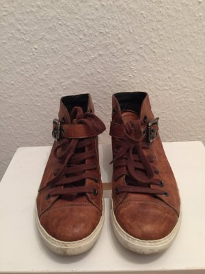 PAUL GREEN SNEAKER BRAUN LEDER