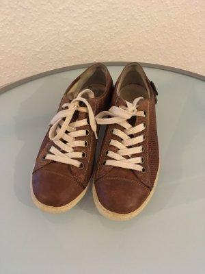 Paul Green Sneaker Leder braun Gr. 36,5