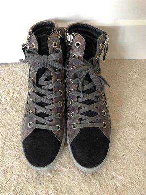 Paul Green Sneaker silber-schwarz
