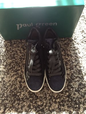Paul Green Sneaker Turnschuhe Halbschuhe Gr. 37 38 blau Nieten