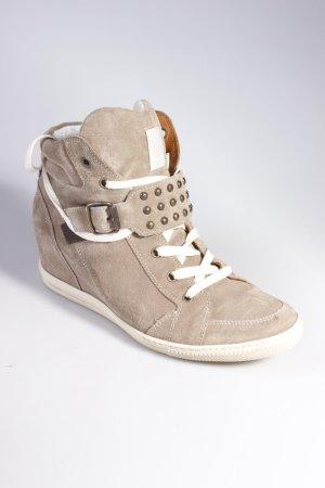 Paul Green Sneaker Wedges beige taupe Größe 40,5 wie neu