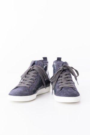 Paul Green Sneakers mit Pailleten Dunkelblau
