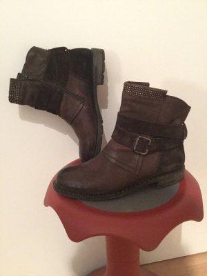 Paul Green Stiefel 3 x getragen dunkelbraun echt Leder