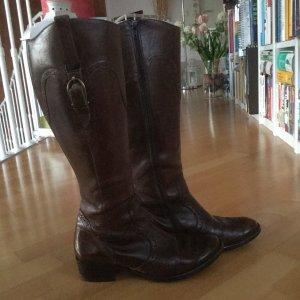 Paul Green Stiefel aus braunem Leder in Größe 37
