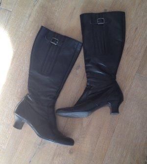 Paul Green Stiefel Gr. 39 / 6 schwarz Leder NP 220€