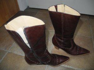 Paul Green Boots western brun foncé cuir
