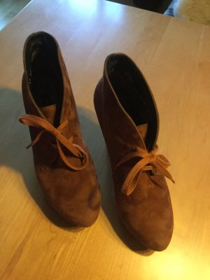 Paul Green Lace-up Booties russet suede