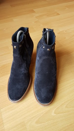 Paul Green Western Booties dark blue leather