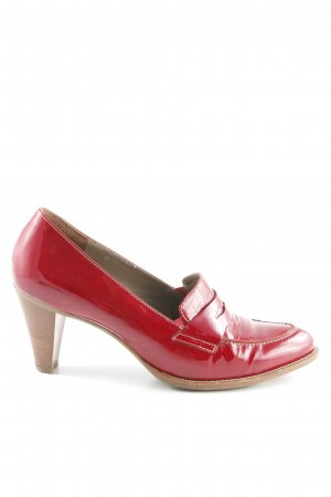 Paul Green Loafers dark red simple style