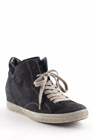 Paul Green Wedge Sneaker black-oatmeal second hand look