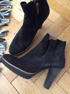 Paul Green Western Booties black-light brown suede