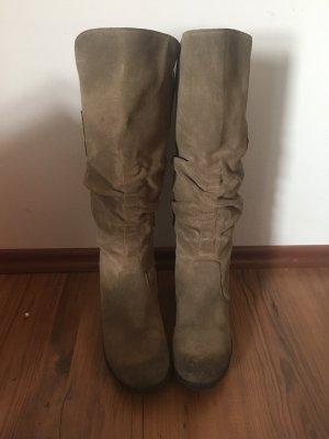 Paul Green Wildleder Stiefel Stiefeletten beige braun 4,5 37.5 38