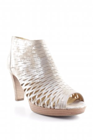 Paul Green High-Heeled Toe-Post Sandals silver-colored-gold-colored party style
