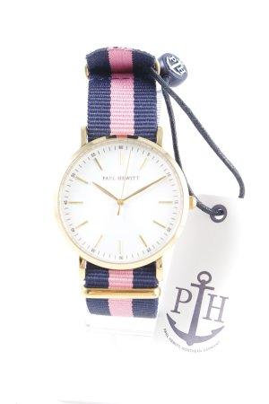 Paul Hewitt Reloj analógico estampado a rayas estilo clásico