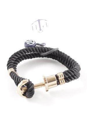 Paul Hewitt Armband schwarz-goldfarben Zopfmuster Casual-Look