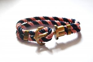 Paul Hewitt Armband Anker Marine Rosa Blau Kordeln