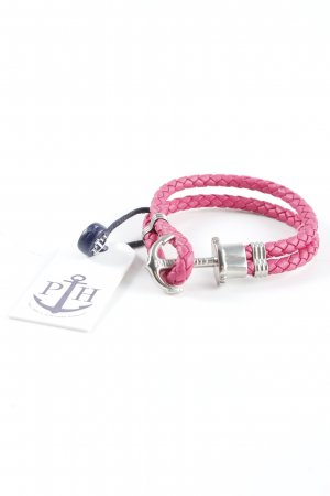 Paul Hewitt Bracelet argenté-rose style classique