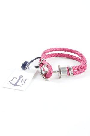 Paul Hewitt Pulsera color plata-rosa estilo clásico