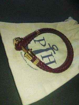 Paul Hewitt Lederarmband Bordeaux, Gr. XL