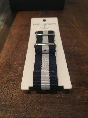 Paul hewitt NATO strap Silber uhrenarmband marineblau-weiß