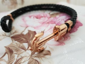 Paul Hewitt Bracelet noir-or rose