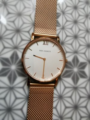 Paul Hewitt Watch With Metal Strap pink stainless steel