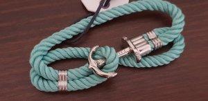 PAUL HEWITT Silber Anker Nylon Armband Turquoise Sea PH-PH-N-S-Ts