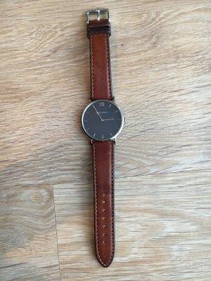 Paul Hewitt Uhr blaues Zifferblatt, silberne Fassung