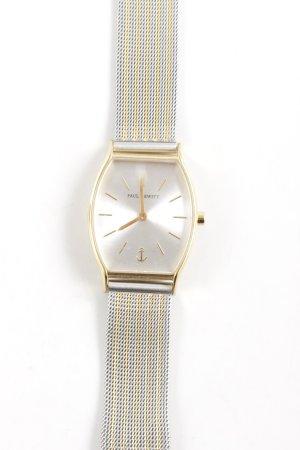 Paul Hewitt Uhr mit Metallband goldfarben-silberfarben Streifenmuster Elegant