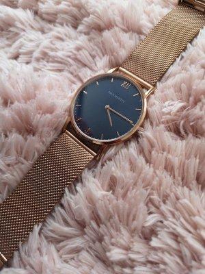 Paul Hewitt Horloge met metalen riempje donkerblauw-goud