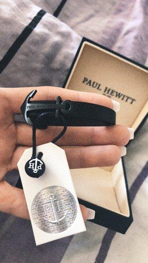Paul Hewitt Bracelet en cuir noir