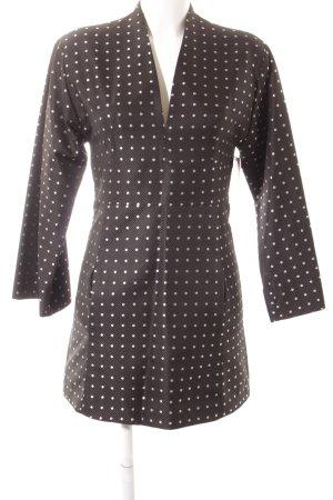 Paul & Joe A-Linien Kleid schwarz-silberfarben Punktemuster klassischer Stil