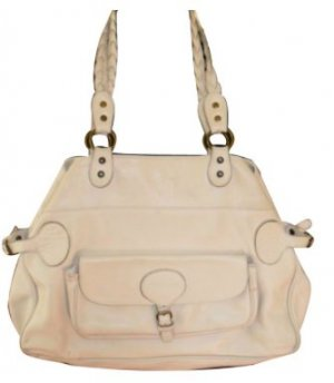 Paul & Joe Echtleder Shopper creme