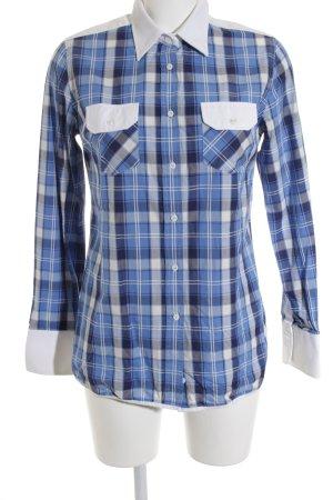 Paul & Joe Langarmhemd blau-weiß Karomuster klassischer Stil