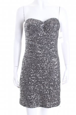 Paul & Joe Sequin Dress silver-colored wet-look
