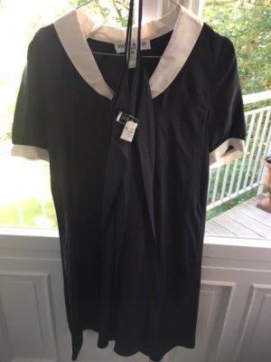 Paul & Joe Paris, Designerkleid, Damen, Schwarz mit weißem Kragen, Gr. 40