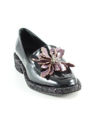 Paul & Joe Schlüpfschuhe schwarz-grauviolett extravaganter Stil